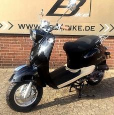 Casabike Motorroller 50 ccm, mit Euro 4  45km/h in schwarz + Gratis  Bremsscheibenschloss mit Alarmanlge  im Wert von 27,90 Euro