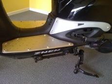Alu Trittbleche & Seitenblech Fußboden KEIN KUNSTSTOFF Roller Motorroller Retro