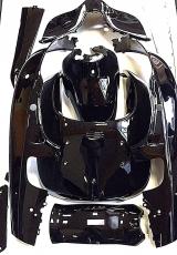Komplett Verkleidung in schwarz glänz