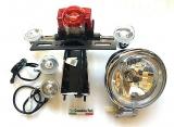 LED Set komplett Beleuchtung Retro Roller Scheinwerfer H4 Rücklicht mit Blinke Firenze
