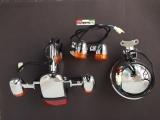 Set komplett Beleuchtung Retro Roller Scheinwerfer + Blinker Rücklicht mit Blinker