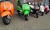 2 Gabelabdeckungen + 2 Streben Abdeckungen Verzierung Verkleidung Roller Motorroller